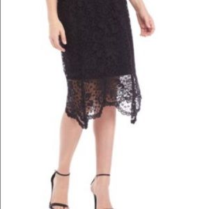 NWT New Directions Skirt, Black Lace
